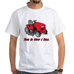 This Is How I Roll Mower White T-Shirt