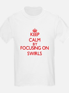Keep Calm by focusing on Swirls T-Shirt