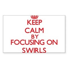 Keep Calm by focusing on Swirls Decal