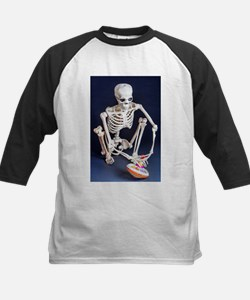 Skinny Skeleton Plays with Top Baseball Jersey