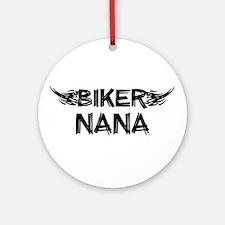 Biker Nana Ornament (Round)