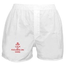 Keep Calm by focusing on Swiss Boxer Shorts