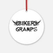 Biker Gramps Ornament (Round)
