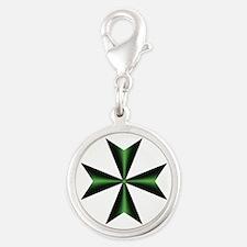 Green Maltese Cross Charms