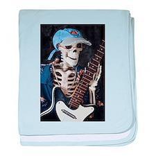 Skinny Skeleton Rocks On baby blanket