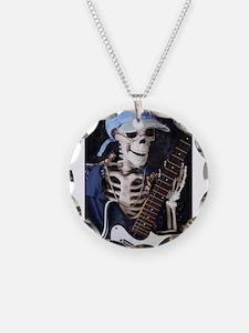 Skinny Skeleton Rocks On Necklace