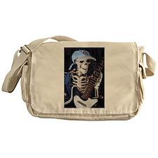 Skinny Skeleton Rocks On Messenger Bag