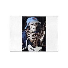 Skinny Skeleton Rocks On 5'x7'Area Rug