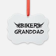 Biker Granddad Ornament