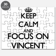 Keep calm and Focus on Vincent Puzzle