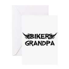Biker Grandpa Greeting Cards