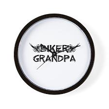 Biker Grandpa Wall Clock