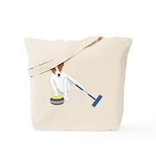 Jack Russell Terrier Curling Tote Bag