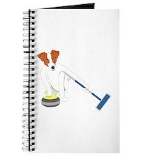 Jack Russell Terrier Curling Journal