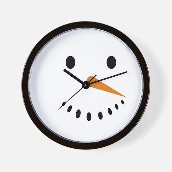 Snowman's Face Wall Clock