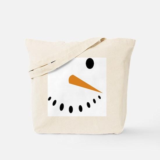 Snowman's Face Tote Bag