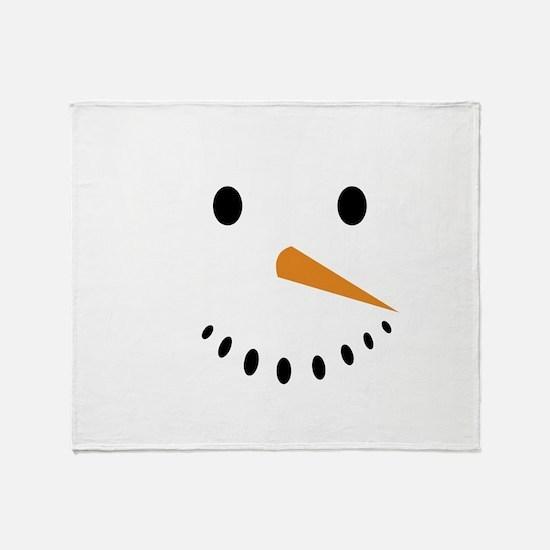 Snowman's Face Throw Blanket