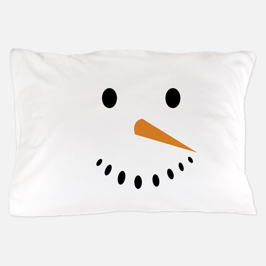 Snowman's Face Pillow Case