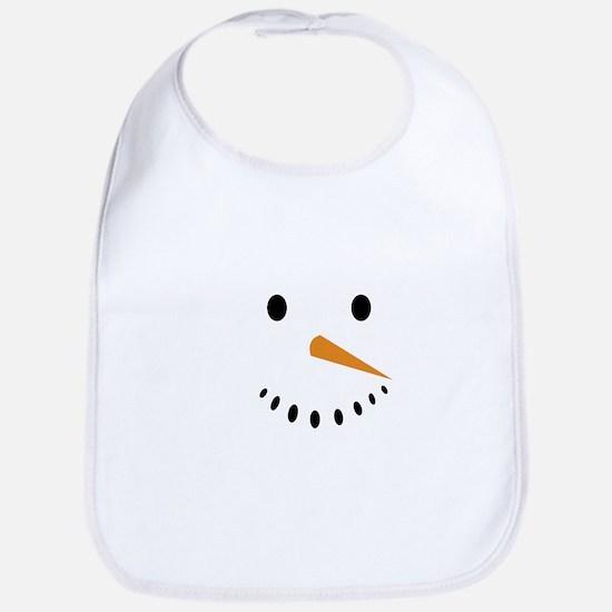 Snowman's Face Baby Bib