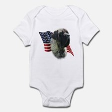 Mastiff (brn) Flag Infant Bodysuit