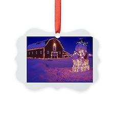 Red Barn Christmas Ornament