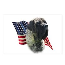 Mastiff (brn) Flag Postcards (Package of 8)