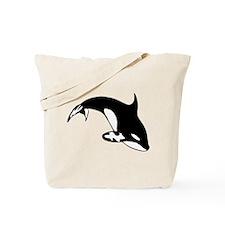 Black Killer Whale / Orca Tote Bag