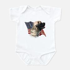 Mastiff(flf) Flag Infant Bodysuit