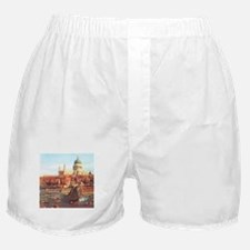 London boats on River by Canaletto Boxer Shorts