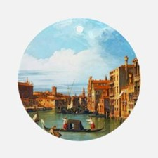 Grand Canal in Venice by Canaletto Ornament (Round