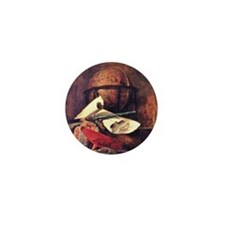 Travel Globe painting by Chardin Mini Button