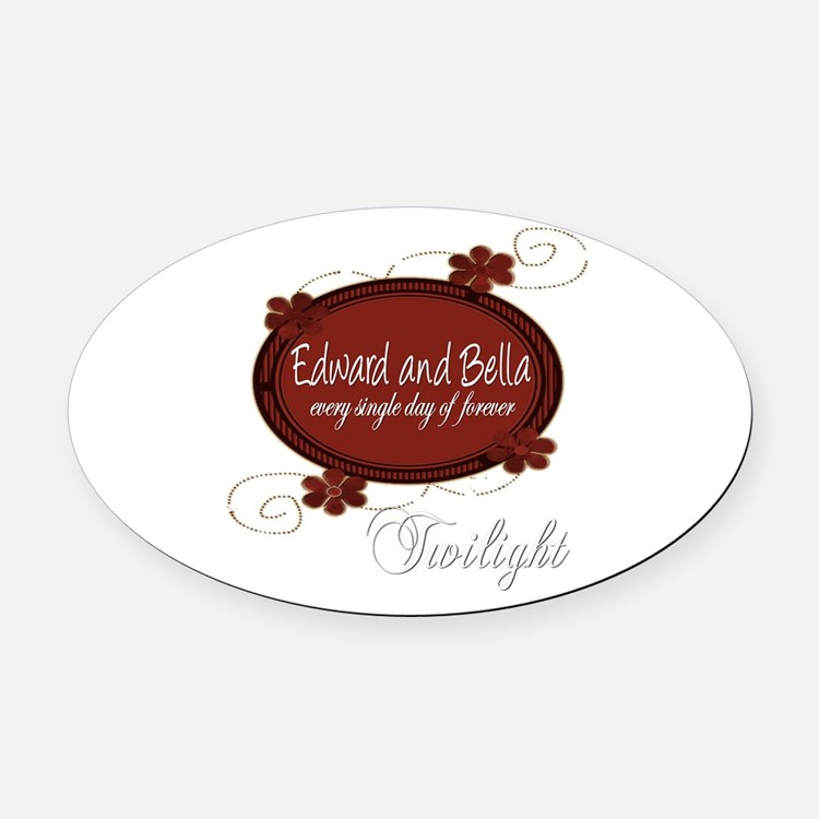 Edward and Bella Collection Oval Car Magnet
