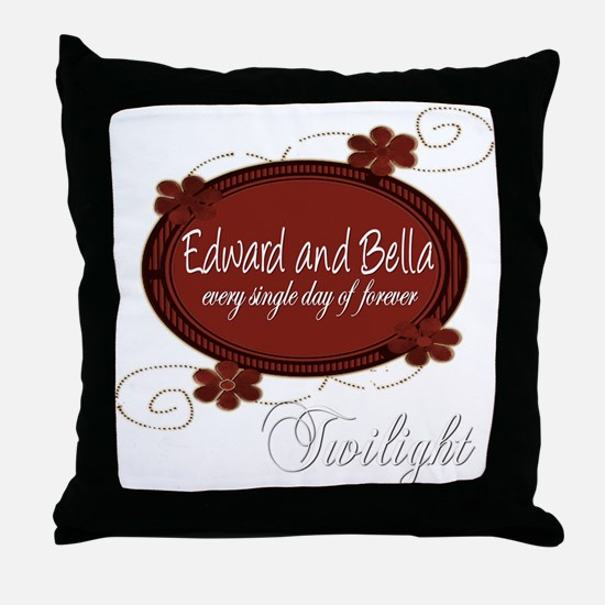 Edward and Bella Collection Throw Pillow