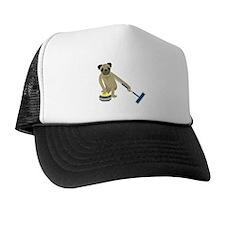 Pug Curling Trucker Hat