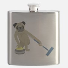 Pug Curling Flask