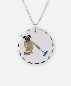 Pug Curling Necklace