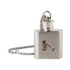 Pug Curling Flask Necklace