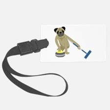 Pug Curling Luggage Tag