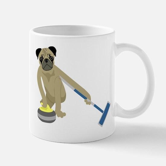 Pug Curling Mug