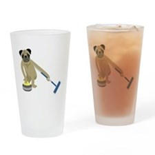 Pug Curling Drinking Glass