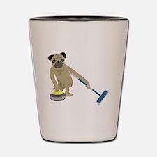Pug Curling Shot Glass