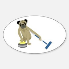 Pug Curling Decal