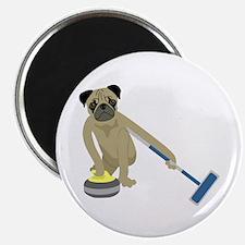 Pug Curling Magnet