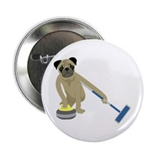 """Pug Curling 2.25"""" Button"""