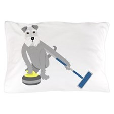 Schnauzer Curling Pillow Case