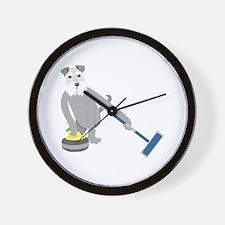 Schnauzer Curling Wall Clock