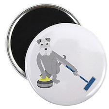 Schnauzer Curling Magnet