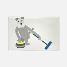 Schnauzer Curling Rectangle Magnet