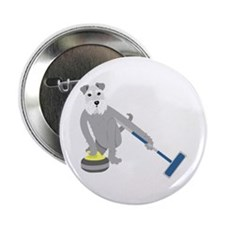 "Schnauzer Curling 2.25"" Button"
