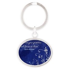 Define your priorities Oval Keychain